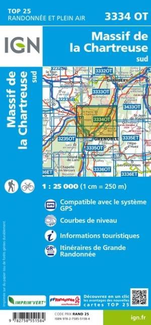 3334OT ; Massif de Chartreuse sud (5e édition)