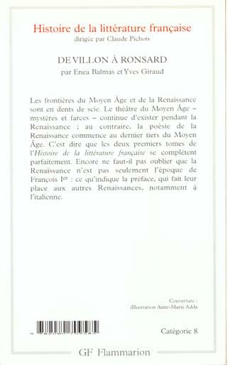 Histoire de la littérature française t.2 ; de Villon à Ronsard
