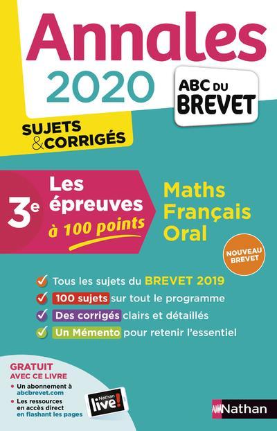 ANNALES ABC BREVET T.25 ; mathématiques ; français ; oral ; 3e (édition 2020)