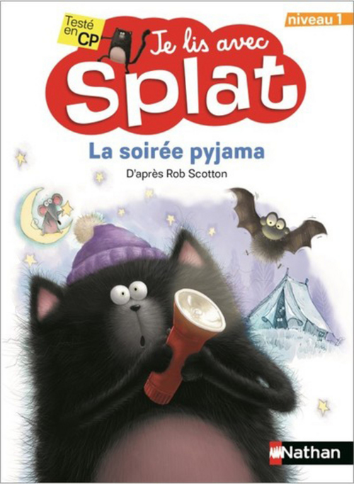 Je lis avec Splat ; la soirée pyjama ; niveau 1