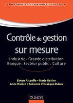 Vente Livre Numérique : Contrôle de gestion sur mesure  - Anne Rivière - Simon Alcouffe - Marie Boitier - Fabienne Villesèque-Dubus
