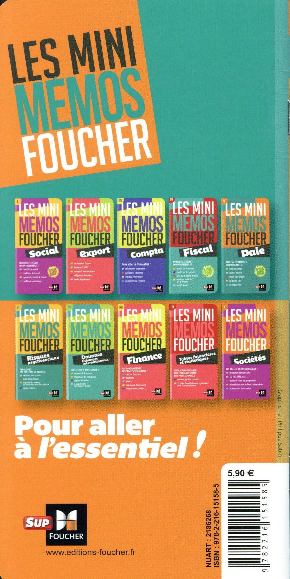 Les mini mémos Foucher ; paie (2e édition)