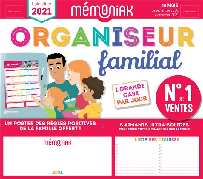 EDITIONS 365/NESK - MEMONIAK  -  ORGANISEUR FAMILIAL (EDITION 20202021)