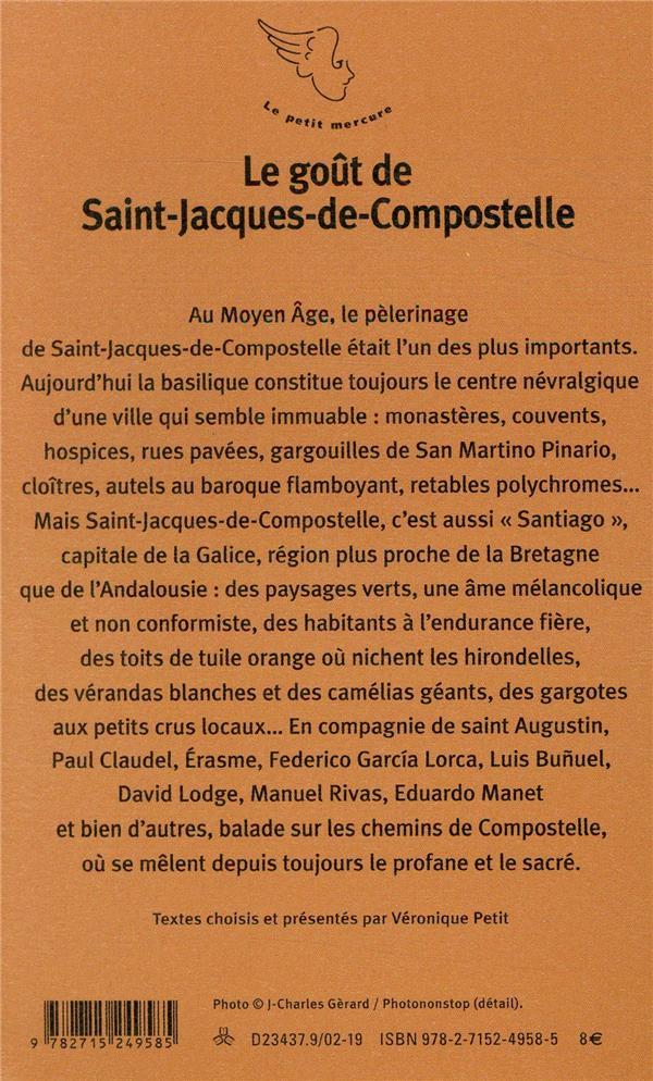 Le goût de Saint-Jacques de Compostelle