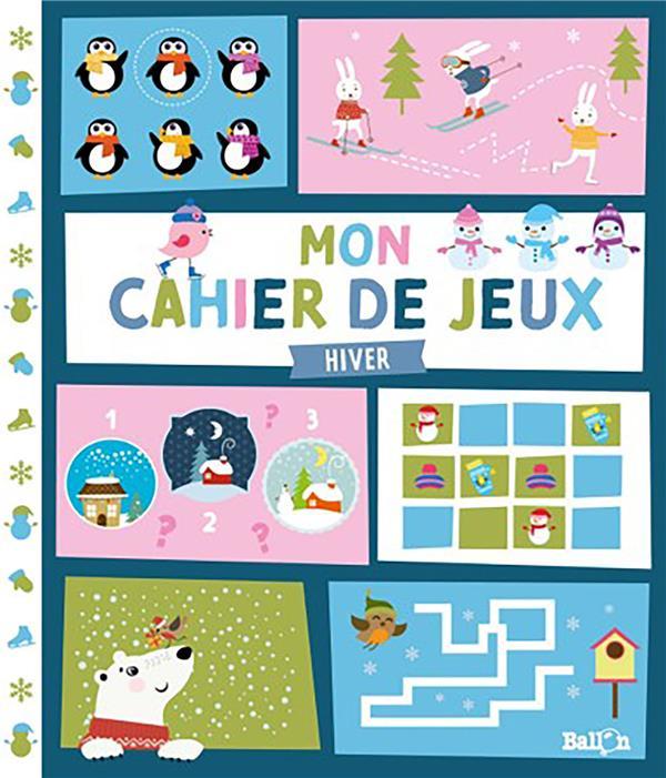 MON CAHIER DE JEUX  -  L'HIVER