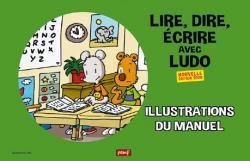 Lire, dire, écrire avec Ludo ; illustations du manuel ; 36 posters A3