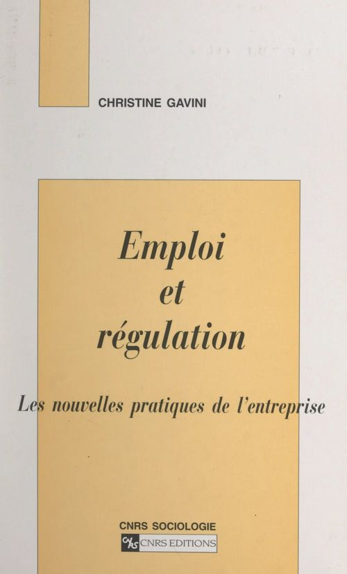 Emploi et régulation