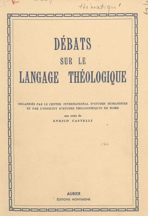 Débats sur le langage théologique