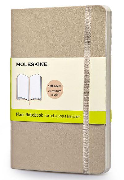 CARNET KAKIBEIGE COUVERTURE SOUPLE POCHE PAGES BLANCHES MOLESKINE