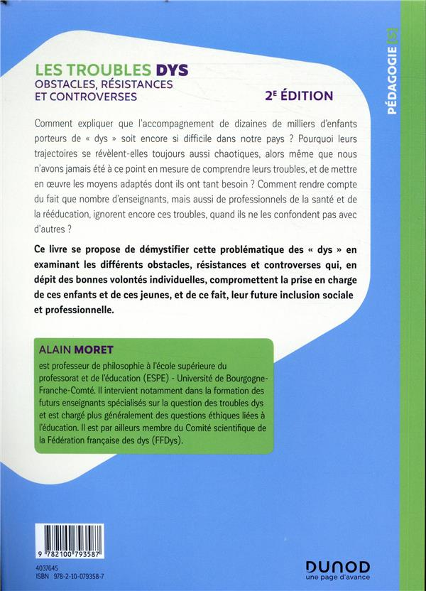 Les troubles DYS ; obstacles, résistances et controverses (2e édition)