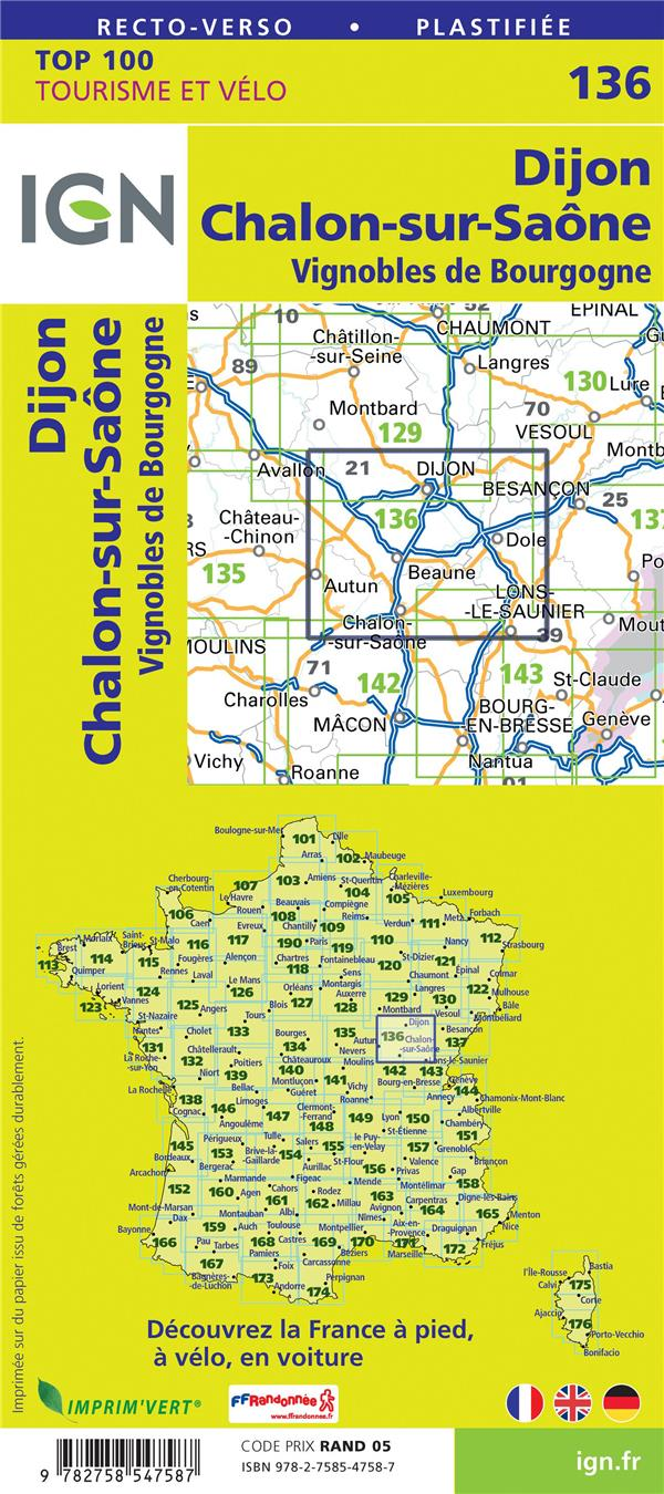 TOP100136 ; Dijon, Chalon-sur-Saône, Côte d'or (4e édition)