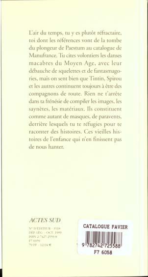 Catalogue philippe favier