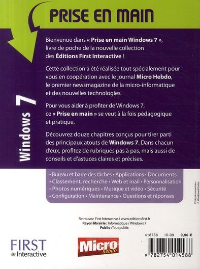 Prise en main ; Windows 7