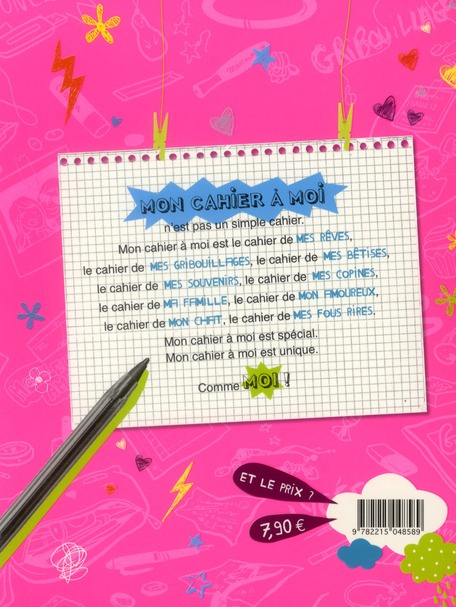 Mon cahier à moi