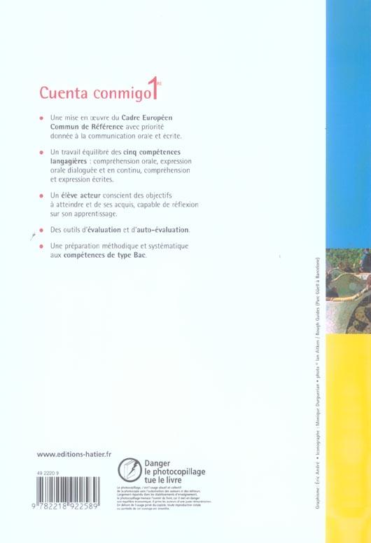 CUENTA CONMIGO ; espagnol ; 1ère ; livre de l'élève (édition 2006)