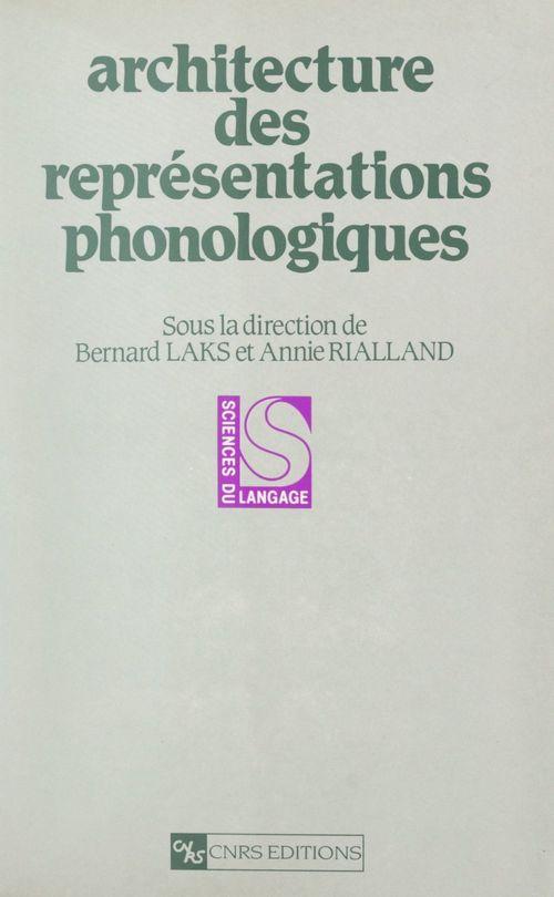 Architecture des représentations phonologiques