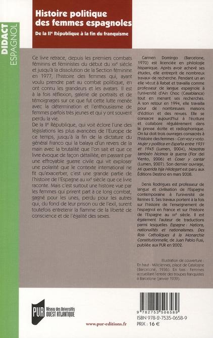 Histoire politique des femmes espagnoles