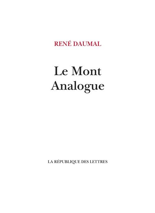 Le Mont Analogue