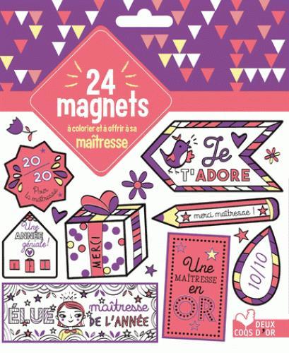 24 MAGNETS A COLORIER ET A OFFRIR A SA MAITRESSE
