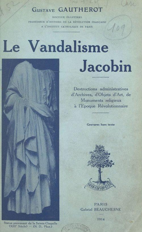 Le vandalisme jacobin