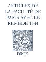 Vente EBooks : Recueil des opuscules 1566. Articles de la Faculté de Paris avec le remède (1544)  - Jean Calvin - Laurence Vial-Bergon