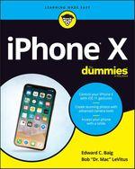 Vente Livre Numérique : IPhone X For Dummies  - Edward C. BAIG - Bob LEVITUS