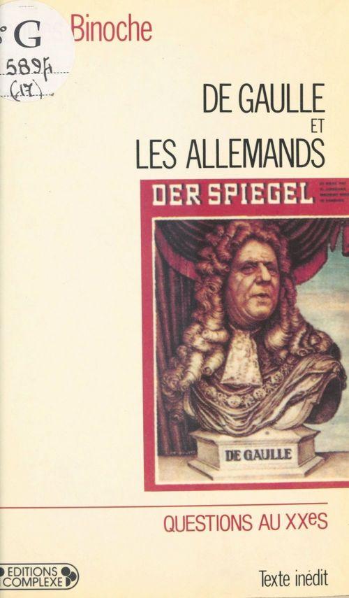 De Gaulle et les Allemands
