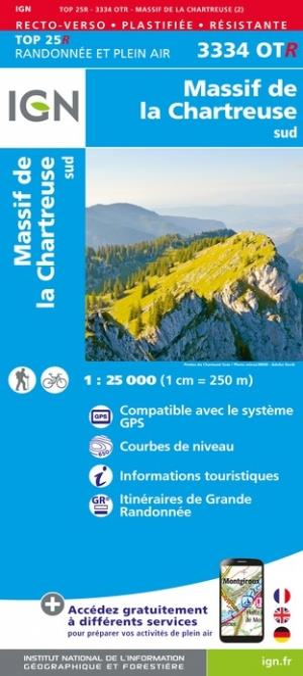 3334OTR ; Massif de Chartreuse sud (2e édition)