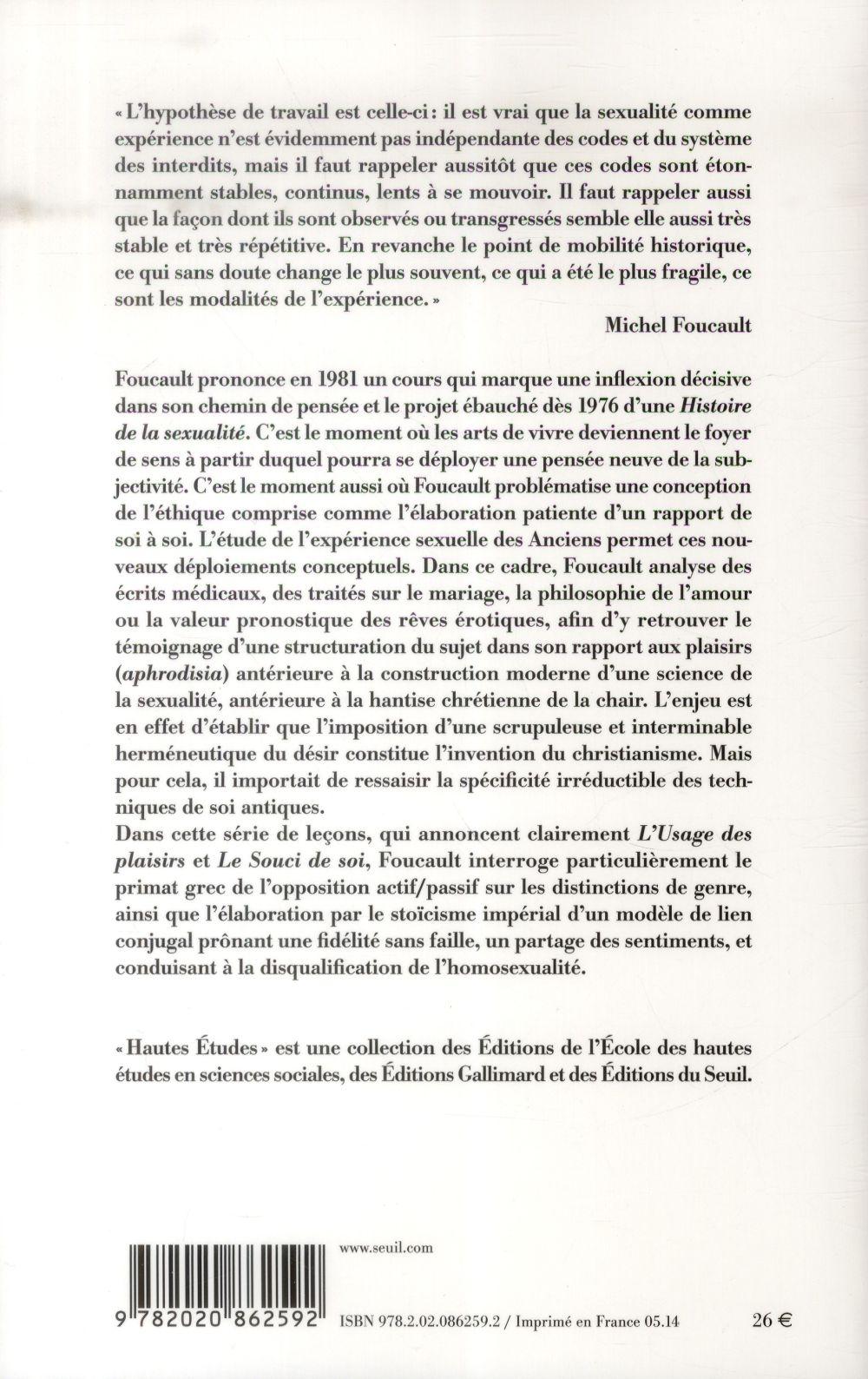 subjectivité et vérité ; cours au Collège de France (1980-1981)