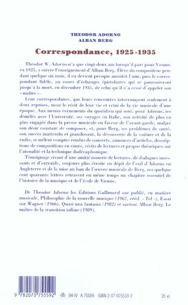 Correspondance, 1925-1935