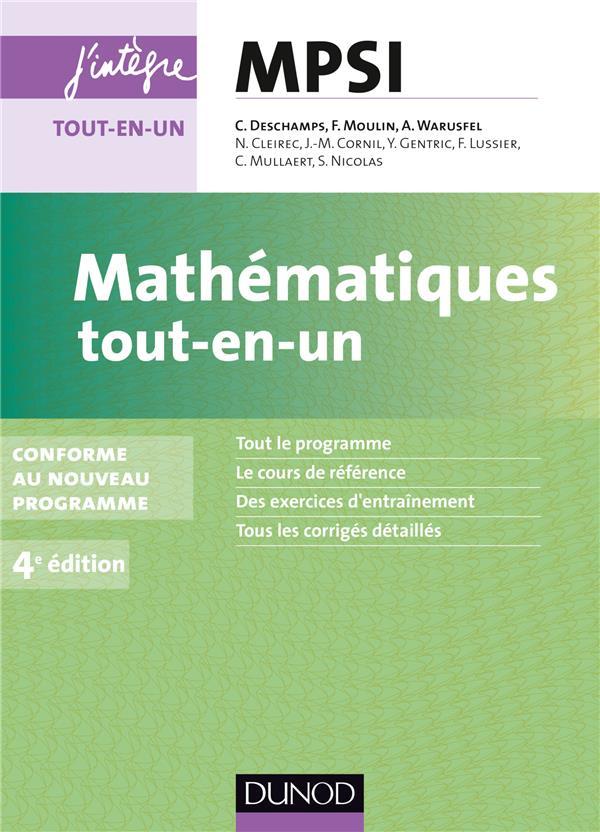 Mathematiques ; Mpsi ; Tout-En-Un (4e Edition)