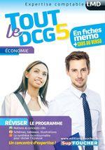 Vente Livre Numérique : Tout le DCG 5 ; économie  - Alain Burlaud - Rémi Leurion
