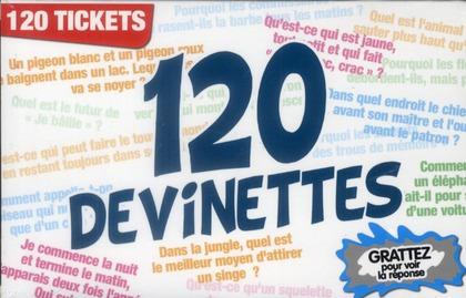 120 devinettes ; 120 tickets ; grattez pour voir la réponse