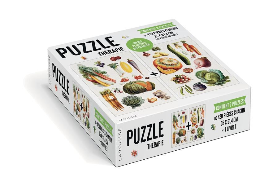 Puzzle thérapie ; jolies planches du potager