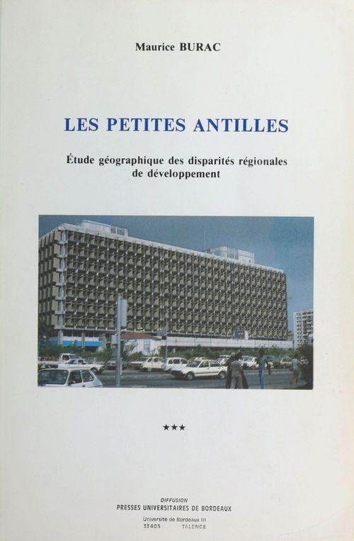 Les Petites Antilles : étude géographique des disparités régionales de développement (3)