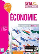 Couverture de Économie ; 1ère année bts tertiaires ; le programme en 11 cas ; pochette élève