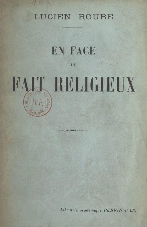 En face du fait religieux
