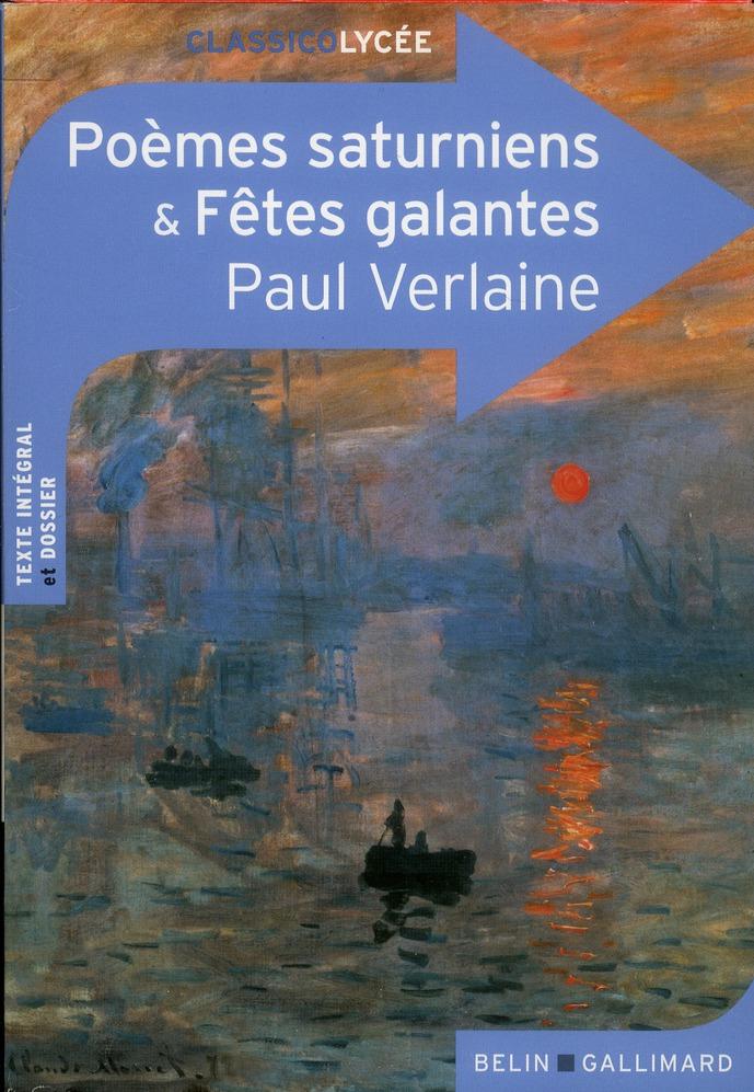 Poèmes saturniens et fêtes galantes, de Paul Verlaine