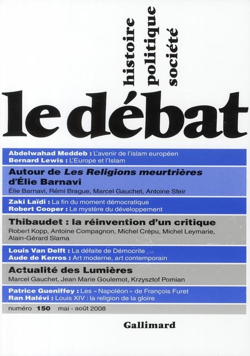 Revue le debat ; mai-aout 2008
