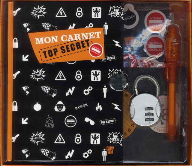 Mon Carnet Top Secret 100% Garcon ; Mon Petit Coffret
