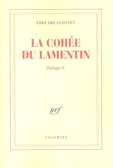 Poetique - v - la cohee du lamentin