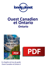 Ouest Canadien et Ontario - Ontario  - LONELY PLANET ENG