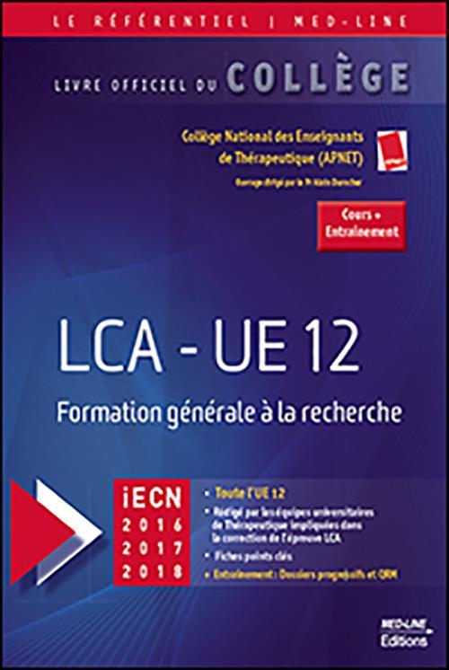 LCA - UE 12 ; formation générale à la recherche (iECN 2016, 2017, 2018)
