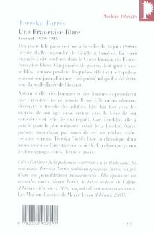 Une française libre ; journal 1939-1945