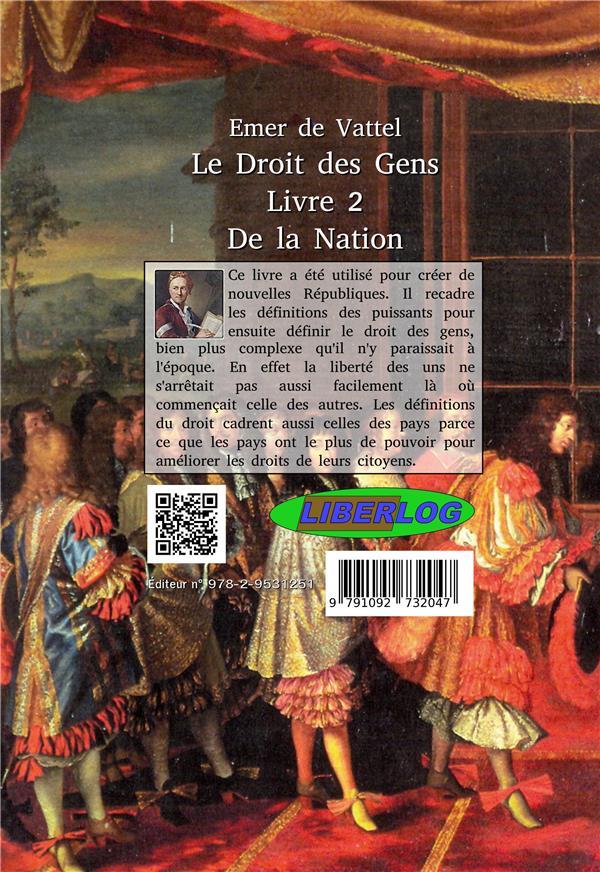 le droit des gens t.2 ; des nations