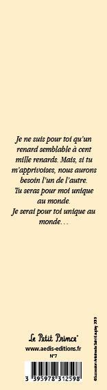 Marque-page Le Petit Prince T.7