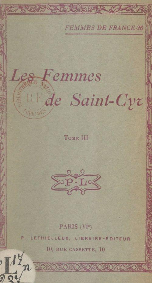 Les femmes de Saint-Cyr (3)