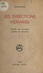 Vente EBooks : Les directions horaires  - Ouranos