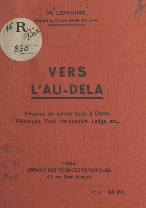 Vente EBooks : Vers l'au-delà  - Ulysse Lemoine