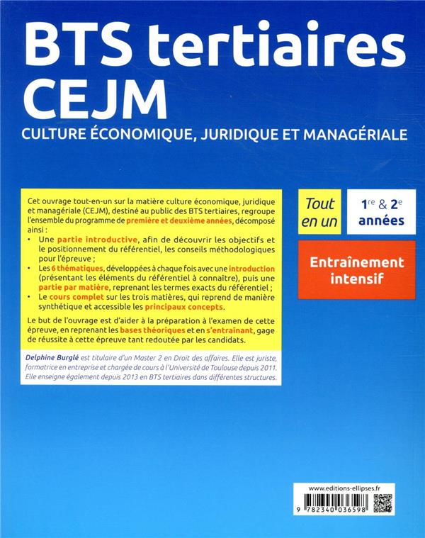 Bts tertiaires - cejm - culture economique, juridique et manageriale